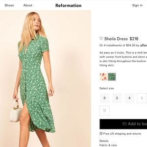 Reformation Sheila Floral Shirt Dress - Size 2